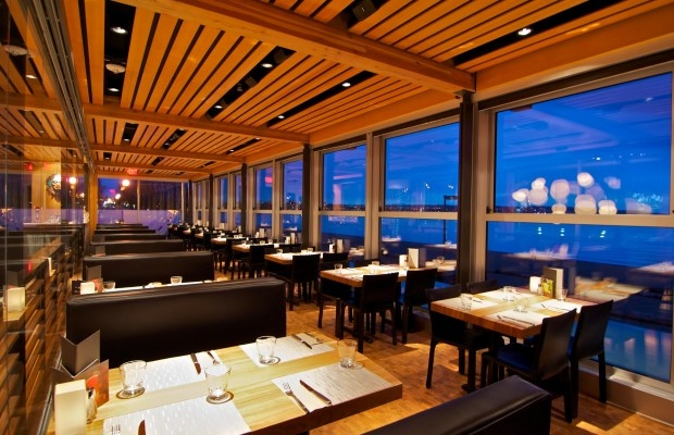 Enjoy your meals with a great sunset view at Cactus Club Cafe on English Bay