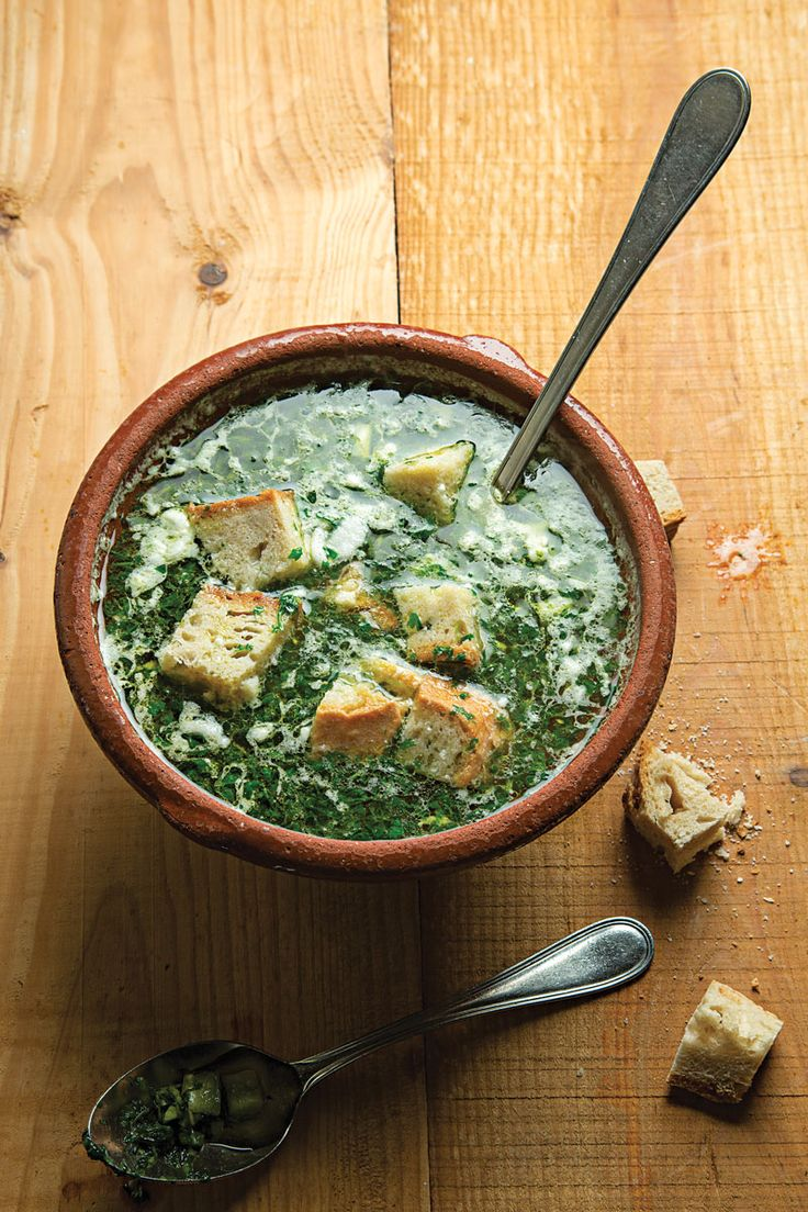 Açorda à Alentejana (Bread and Garlic Soup with Cilantro) | SAVEUR - really just want to make this period, but adding here as a possible starter because it sounds so amazing