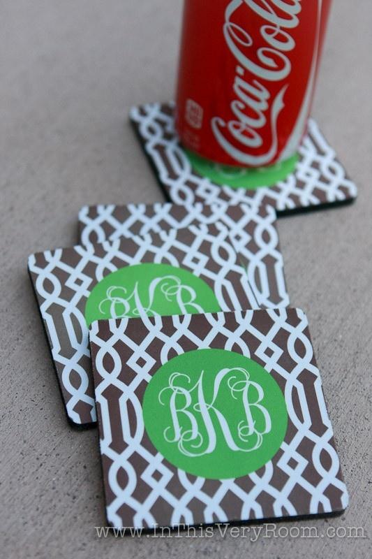 monogram coaster sets