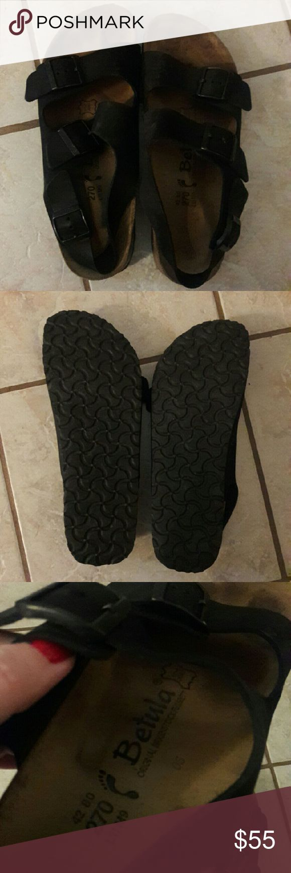 Birkenstock - Betula sandals Excellent used condition. I bought these but never wear them and now I'm clearing out! They are a size 11 women's, Birkenstock size 42. Very comfortable! Real leather straps. From a smoke and pet free home. Fast shipping! Birkenstock Shoes Sandals