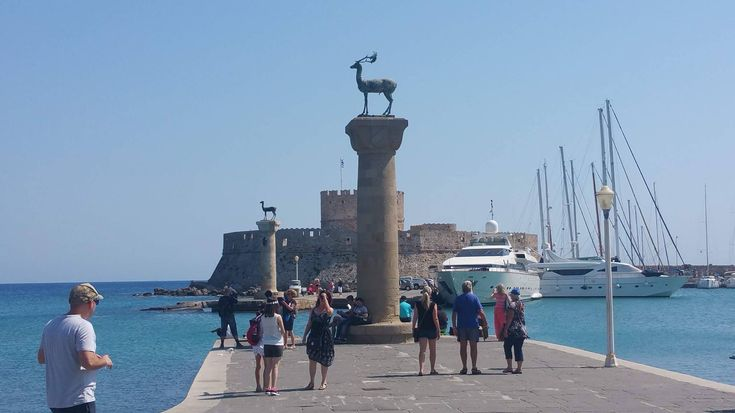 The Said Location Where The Colossus Of Rhodes Once Stood!