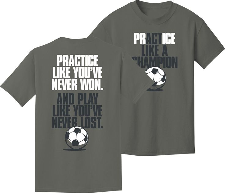 soccer t shirt like a champion soccer adult small made of preshrunk cotton design is on front and back of shirt color charcoal high quality apparel adult - Soccer T Shirt Design Ideas