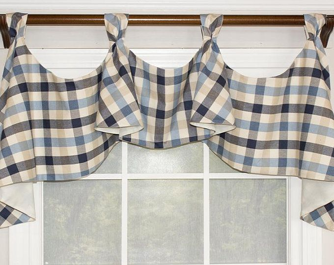 Buffalo Check Tab Flounce Valance Panel Or Pillow Decorative Curtain Rods Buffalo Check Valance