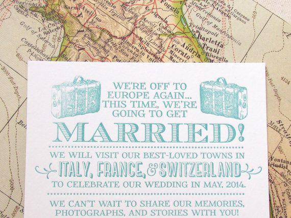 Elopement Wedding Invitations: 52 Best Destination Wedding Cards Images On Pinterest