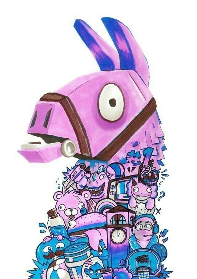 Pin By Shirley Barrios On Fortnite Wallpapers Skin Llama Arts Doodle Art Designs Doodle Art Drawing