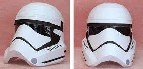PAPERMAU: Star Wars - New Stormtrooper Wearable Helmet Paper Model In 1/1 Scale - by Hyakunin