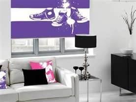purple roller blind