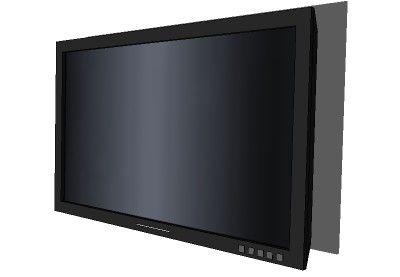 een tv die aan de muur is opgehangen
