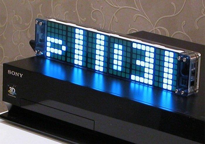 LED Dot Matrix Digital Clock