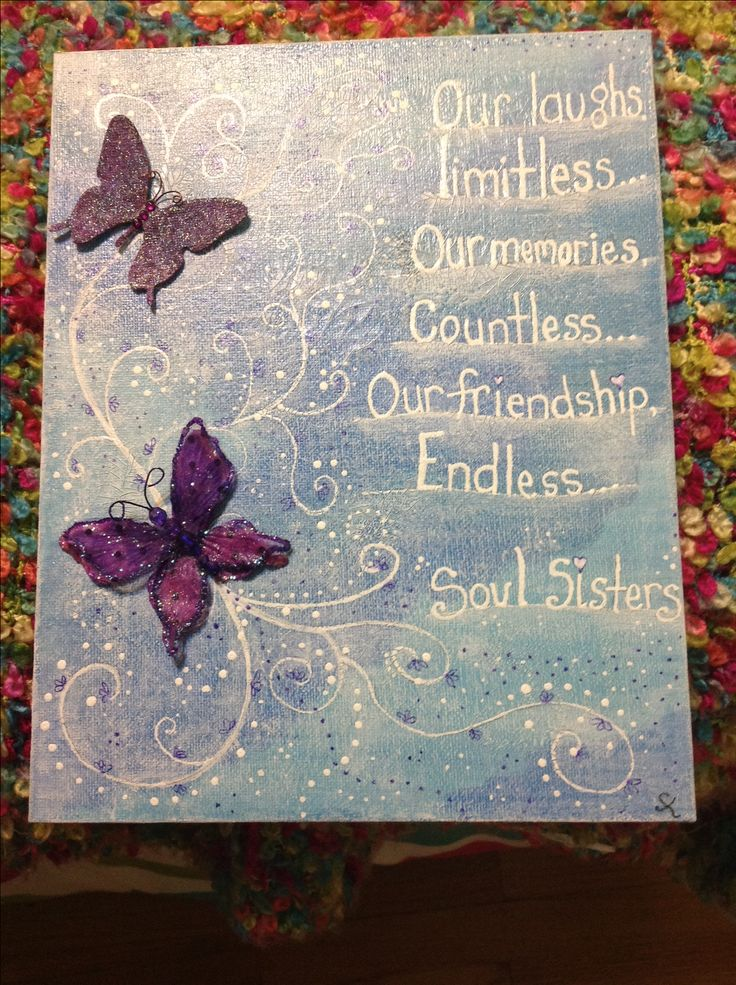 "My happy art "" soul sisters"" Artist Shelley Keeble  Made with love for a friends friend xo"