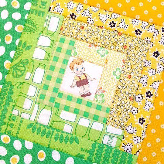 This little darling💚💛 #quilt #patchwork #patchworkquilt #quiltpattern #logcabin #logcabinquilt #logcabinpattern #handsewing #handmade #quilteryuan #キルト #パッチワーク #パッチワークキルト #quiltgate #quiltgatefabrics #dearlittleworld #dreamingdoll