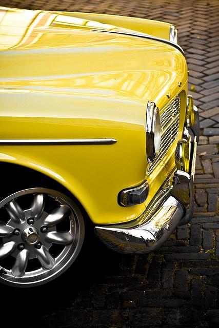 Yellow Volvo 122 by habaneros, via Flickr. Nice!