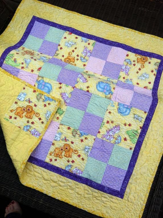 Looking for quilting project inspiration? Check out Baby Quilt by member KristinC. - via @Craftsy