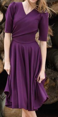 Pretty flattering purple dress