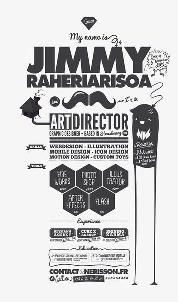 Jimmy Raheriariosa Resume #design #vintage #CV