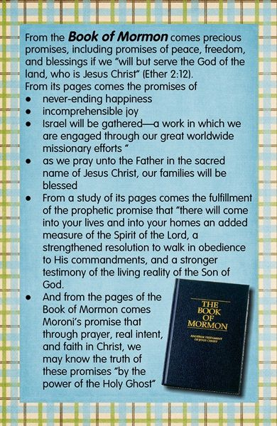 Some promises of the Book of Mormon