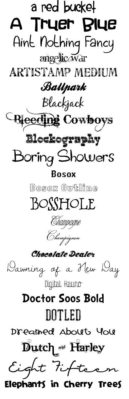 Signature Scrapbooks Blog: My Favorite Scrapbooking Fonts