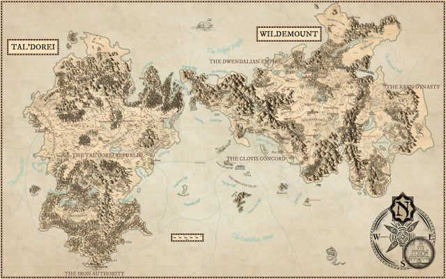 No Spoilers Map Of Eastern Exandria Tal Dorei And Wildemount