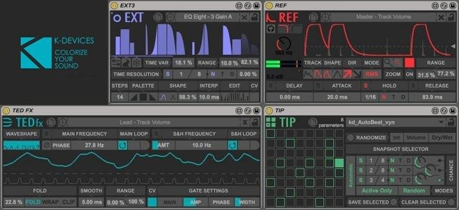 Modulators for Max for Live by K-Devices