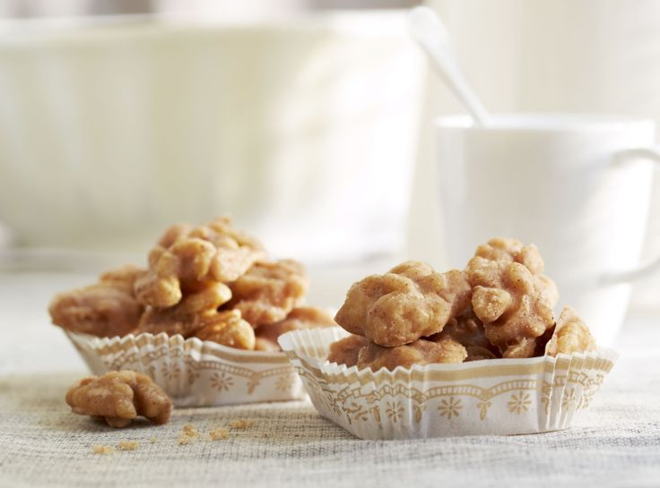 Diamond Cinnamon Glazed Walnuts