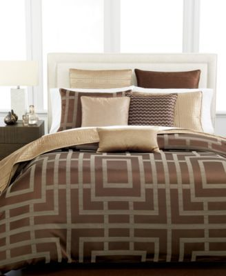 CLOSEOUT! Hotel Collection Savoy Espresso Bedding Collection | macys.com