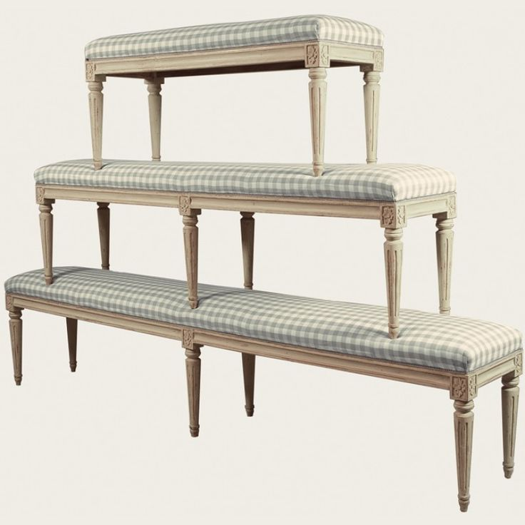 Bench Short Furniture Gustavian Furniture Chelsea Textiles Rustic Romantic Gustavian
