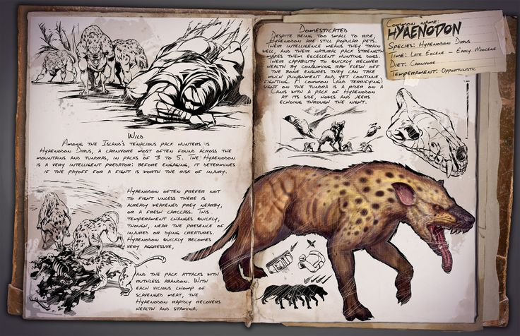 ARK: Survival Evolved — New dossier release, this time for the Hyaenodon!