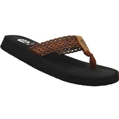 2b06216d130127 Yellow Box Wally Flip Flops - Womens Tan Rogan s Shoes
