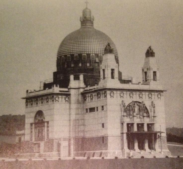 Steinhof Church. 1904-1906. Vienna, Austria. Otto Wagner, with glass windows by Koloman Moser.