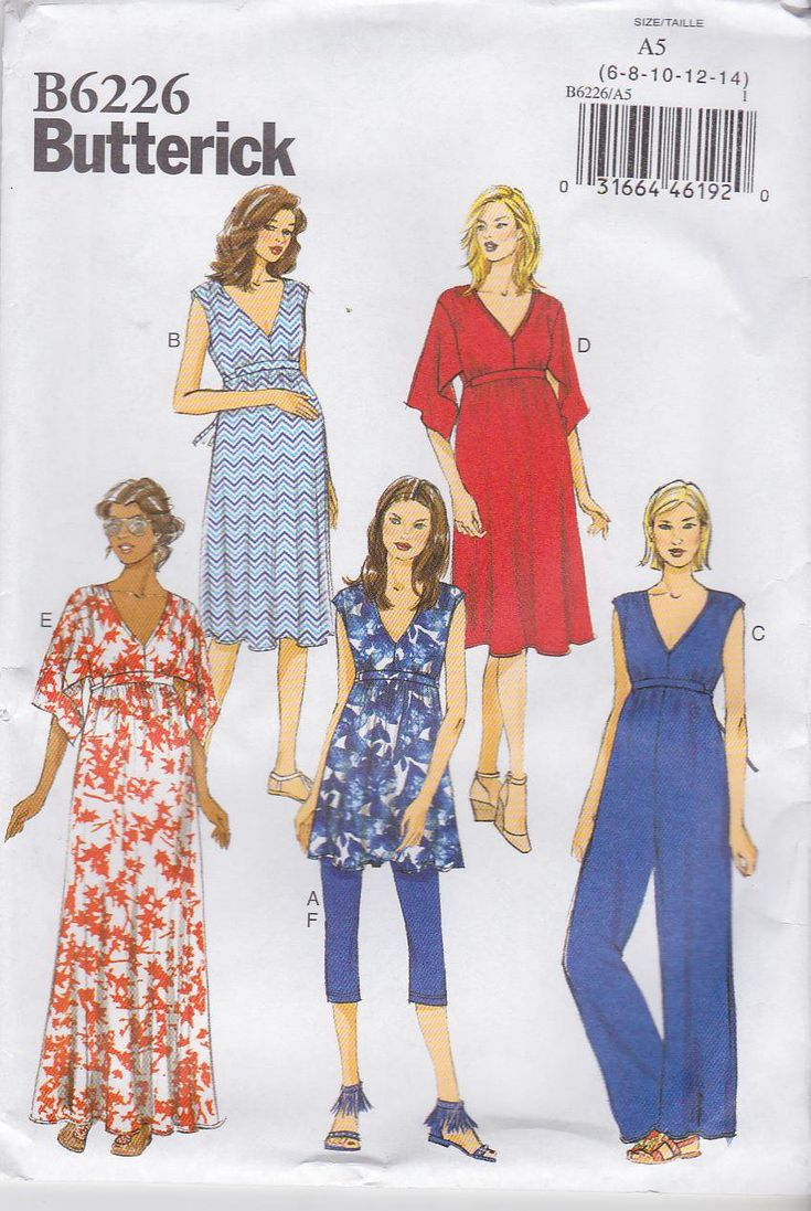 176 best maternity clothes moonwishes patterns images on butterick sewing pattern 6226 misses size easy maternity knit dresses tunic jumpsuit leggings ombrellifo Images