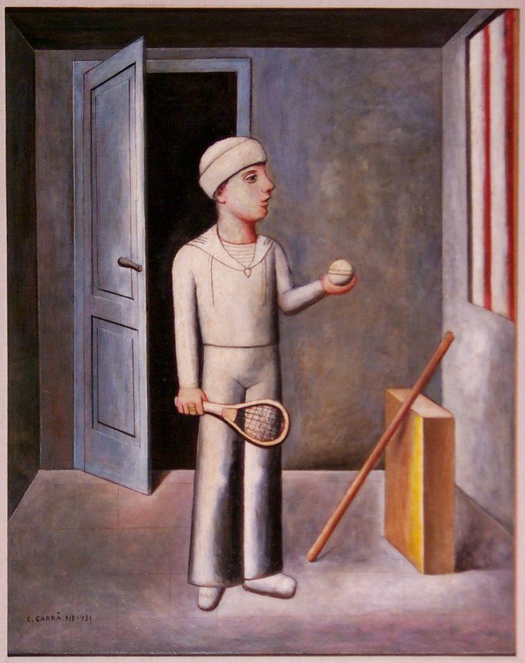 Il Figlio del Costruttore (The builder's son) by Carlo Carrà