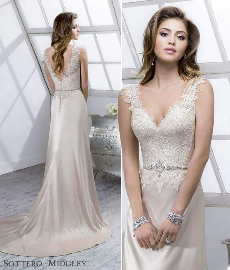 Lenora From Sottero And Midgley A Gorgeous Satin Lace Wedding Dress