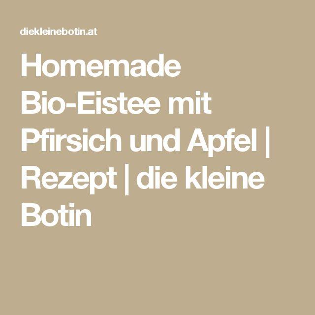 Homemade Bio-Eistee mit Pfirsich und Apfel   Rezept   die kleine Botin