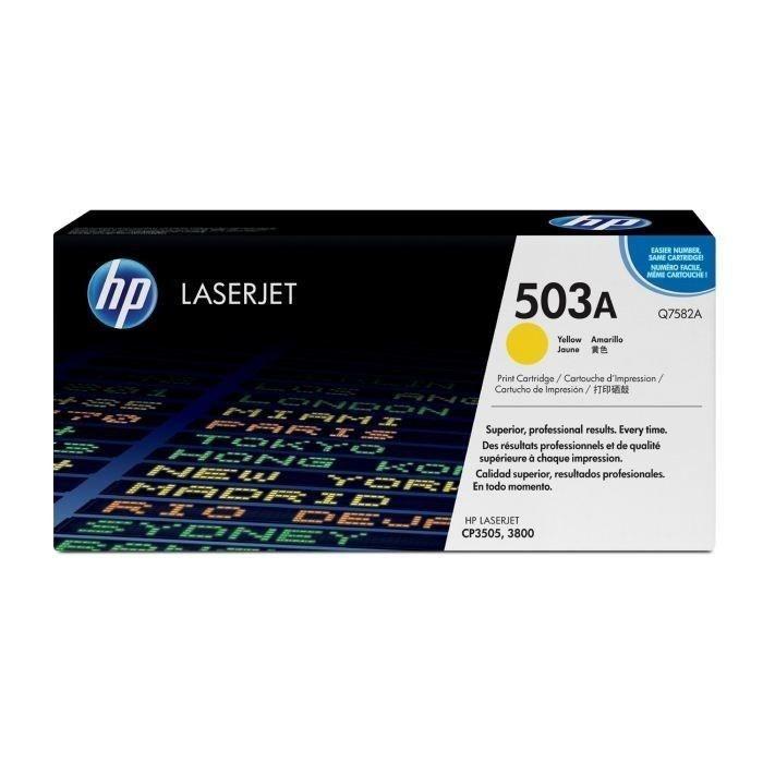 HP 503A toner LaserJet jaune authentique (Q7582A) pour HP Color LaserJet 3800/CP3505