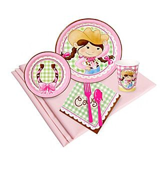 Pink Cowgirl 16 Guest Party Pack