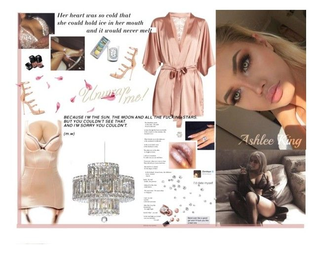 """""""Baby wanna get in this S-Class Lil' momma, she just wanna go fast You know, baby, you don't get a free pass So I told her """"Ass, gas or grass"""" Rolex with the diamonds keep me shining Gotta have perfect timing when I'm riding Brand new Aston Martin"""" by ashlee-lynn ❤ liked on Polyvore featuring Fleur of England, Giuseppe Zanotti, Ciaté, Schonbek and Chanel"""