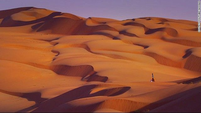 The Liwa Oasis is a 100-kilometer-wide stretch of sands that has some of the world's largest sand dunes.