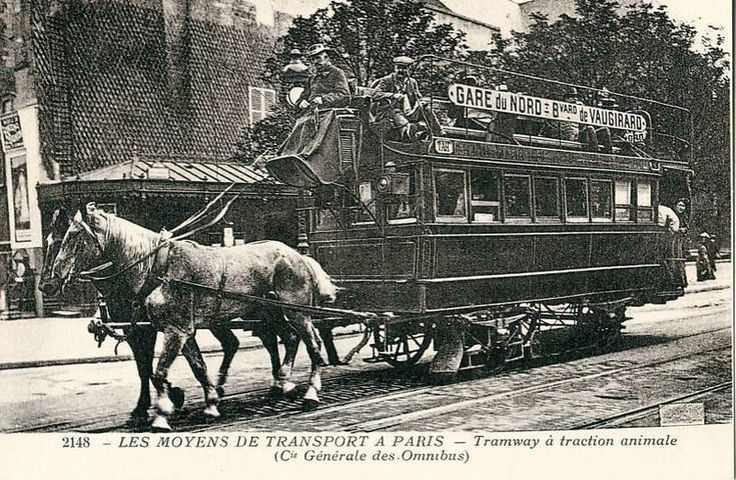 1855 until the end of the 1930's ~ Paris tramway