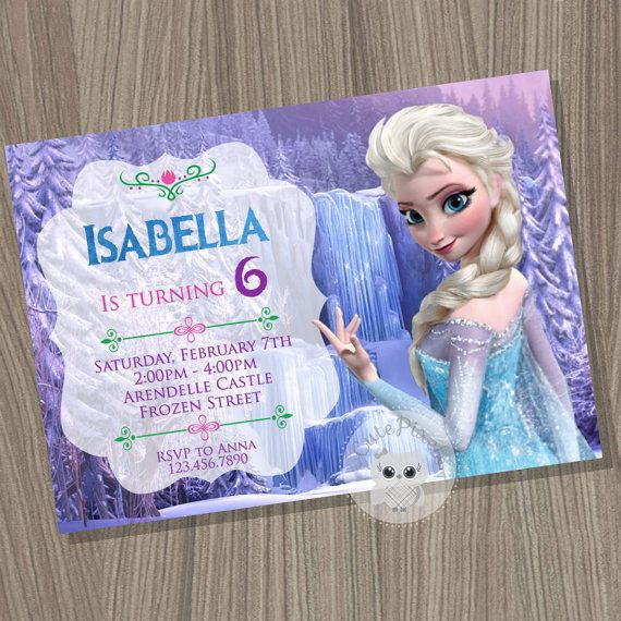 Frozen Invitation Disney Frozen Elsa Invitation by CutePixels
