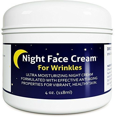 Anti Aging Night Cream Moisturizer for Dry Skin - Firming Cream For Women and Men - Best Anti Wrinkle Cream for Sensitive Skin - Collagen Booster - All Natural Skin Care with Antioxidants and Shea Butter NIGHT FACIAL MOISTURIZER for men and women is designed for those with sensitive easily irritated skin. Whether you have oily or very dry skin, our lotion is powerful option for healing signs of aging. ALL NATURAL INGREDIENTS and fragrance free, our product is all natural. This gi