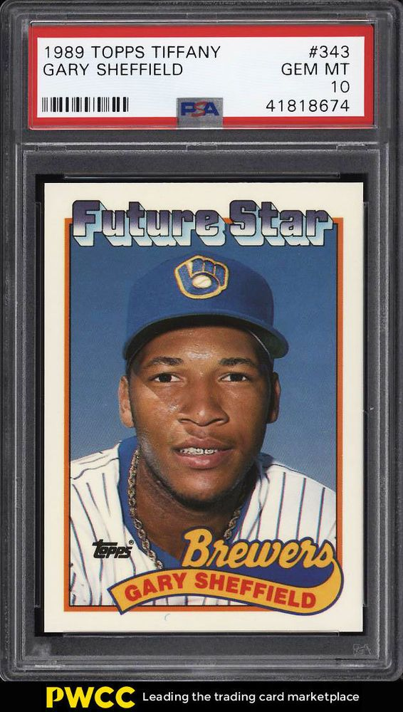 1989 Topps Tiffany Gary Sheffield Rookie Rc 343 Psa 10 Gem