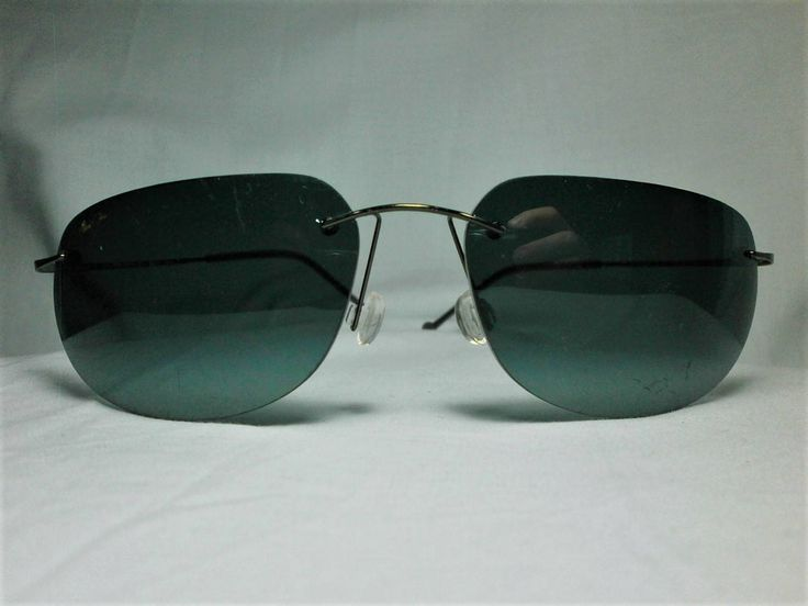 Maui Jim Japan, Titanium, eyeglasses frames, rimless, men's, women's, unisex, vintage by FineFrameZ on Etsy
