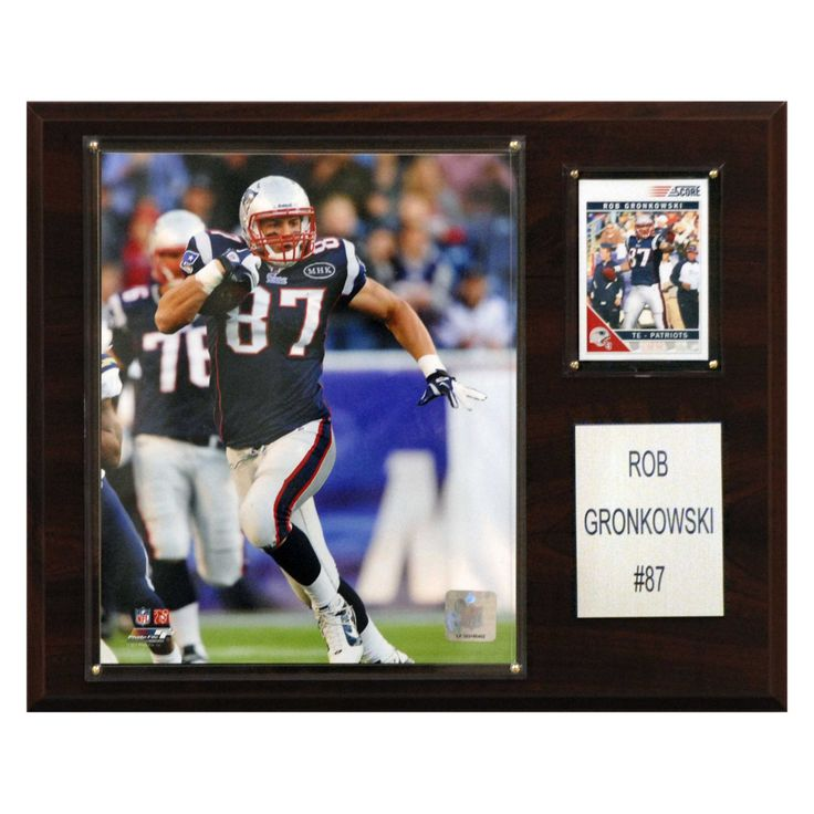 NFL 12 x 15 in. Rob Gronkowski New England Patriots Player Plaque - 1215GRONKOW