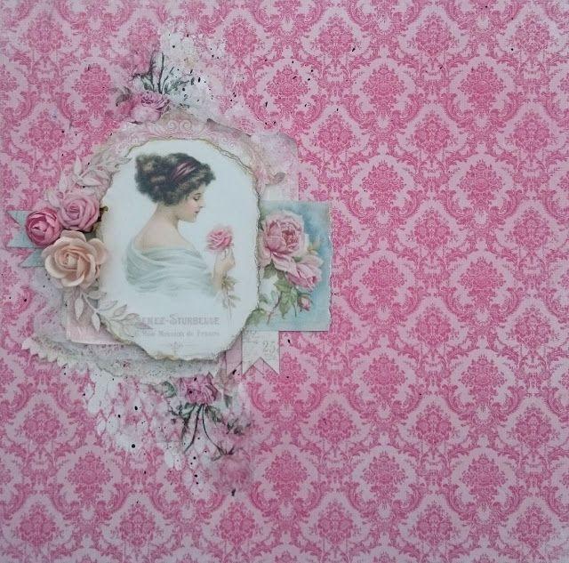 Vintagelady layout by Helena Wikman #pion #piondesign #vintagegarden