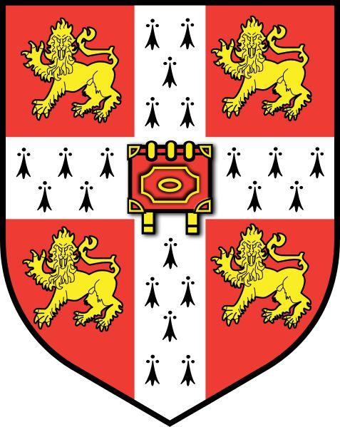 Logo de la Universidad de Cambridge,«Hinc lucem et pocula sacra» que significa «Por lo tanto la luz, y las copas sagradas».