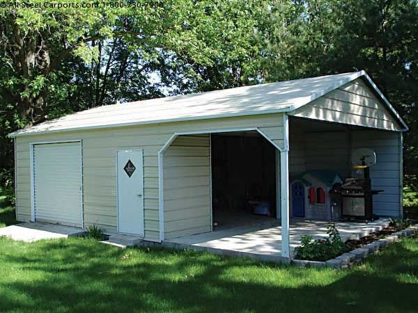Metal carports with storage shed photos for Carport with storage shed attached