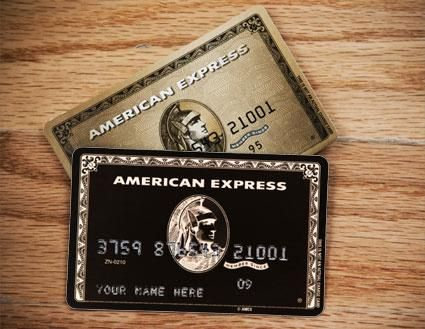 Centurion Card (aka The Black Card) & American Express Gold Card