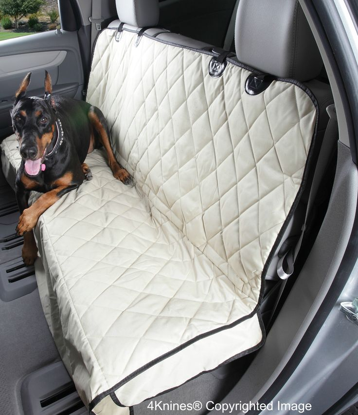 Dog Seat Cover For Cars With The Best Nonslip Backing Tan Regular