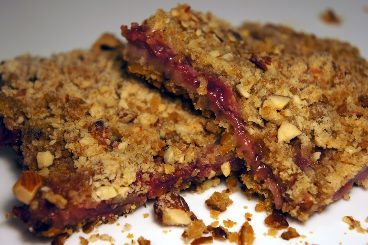 Strawberry Fruit Bars with Snyders Pretzel Crust and Almond Crumble Recipe