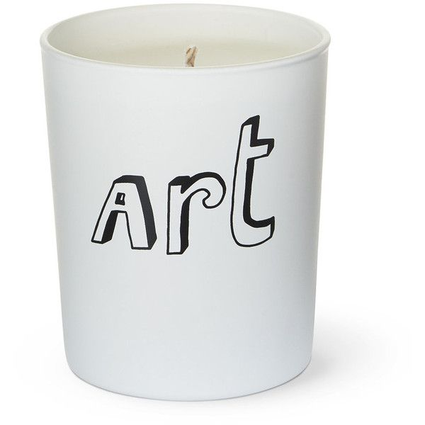 Bella Freud Art Candle ($58) ❤ liked on Polyvore featuring home, home decor, candles & candleholders, white, white candles, heart vessels, british home decor, heart candles and white home decor